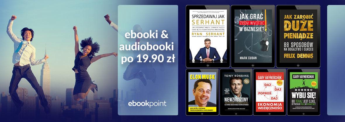 Promocja na ebooki Czytaj i działaj - Ebooki i audiobooki po 19,90zł